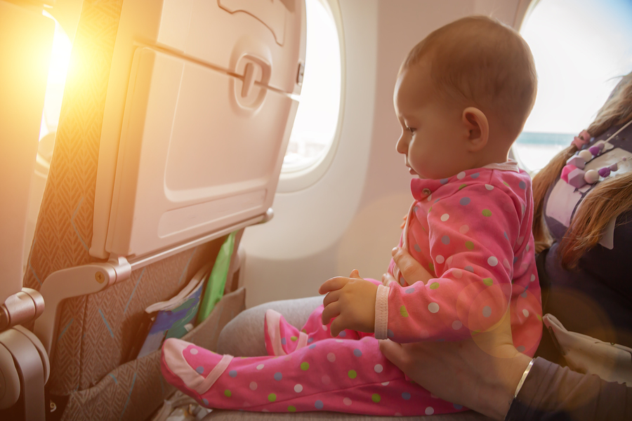 Flying with babies and children