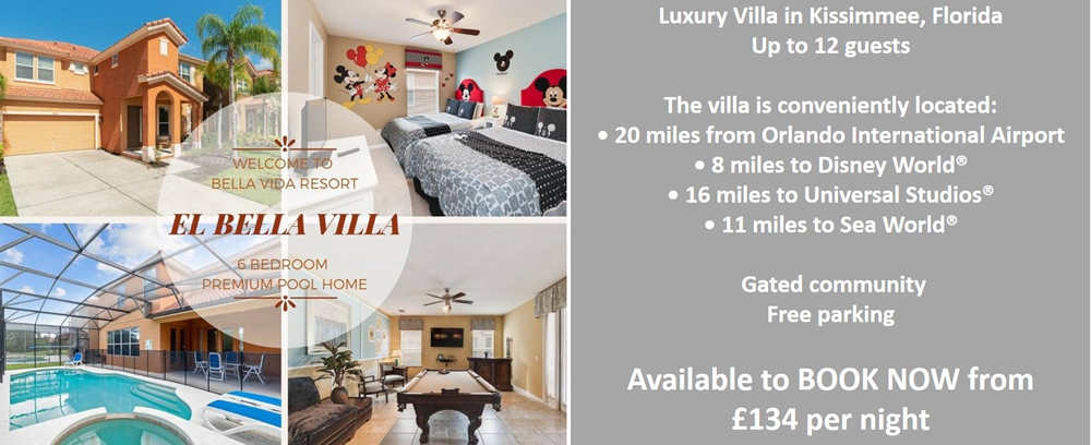 Luxury Villa in Kissimmee - El Bella Villa Florida